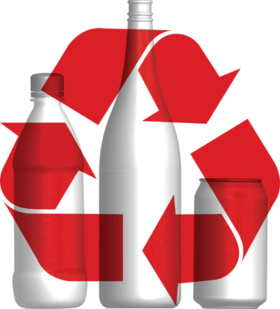 Bottles and Cans - This artwork used under license from VectorStock