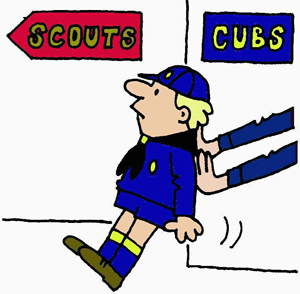 Cub Scout Pushing On